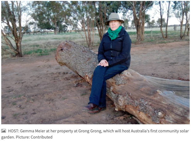 Grong Grong farmer Gemma Meier to host first solar garden in Riverina
